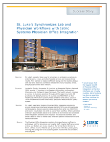 St. Luke's Integration with MEDITECH Success Story image