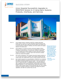 Union Hospital Integration with MEDITECH Success Story image