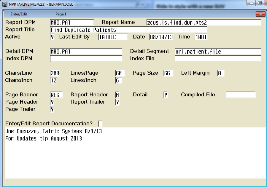 Find Duplicate Medical Records (Client/Server, MAGIC or 6.0)