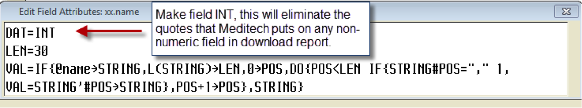 Stripping characters for a Download Report