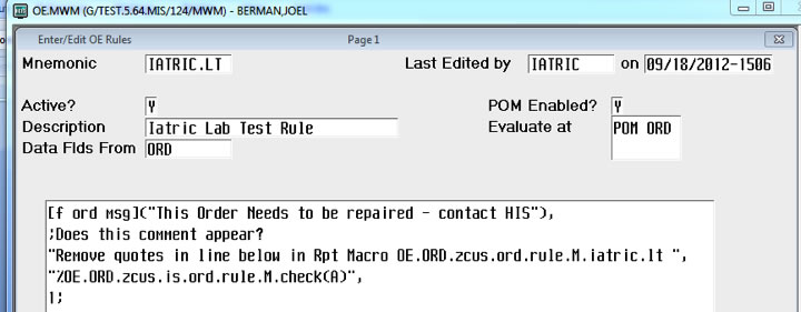 Smarter OE/POM rules (Client/Server or MAGIC)