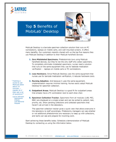Top 5 MobiLab Benefits Image